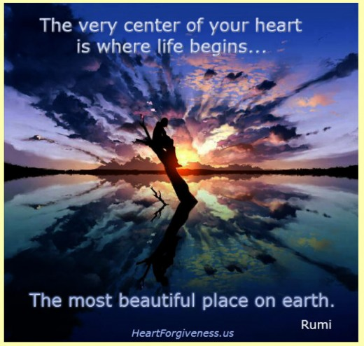 center of your heart quote by rumi